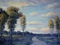 FRANKLIN E. BOOTH SIGNED ORIGINAL OIL PAINTING OF LANDSCAPE
