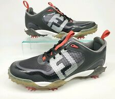 Footjoy Freestyle Mens Size 8M Waterproof Golf Shoes 57333 Black/White/Red