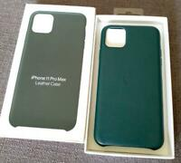 iPhone 11 Pro Max Apple Genuine Original Leather Cover Case Forest Green