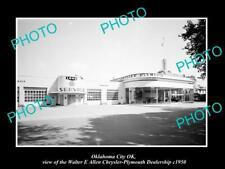 OLD POSTCARD SIZE PHOTO OKLAHOMA CITY OK USA CHRYSLER PLYMOUTH CAR DEALER 1950