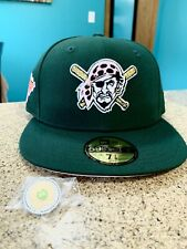 hat club exclusive Pittsburgh Pirates Pink Brim 7 1/8 Green Eggs Ham New Era Hat