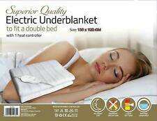 DOUBLE ELECTRIC BLANKET FOR BED WASHABLE HEATED UNDER SHEET