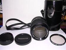 ESTATE YASHICA LENS DSB 135mm 1 : 2.8   MADE IN JAPAN & CASE & SKY FILTER & CAPS