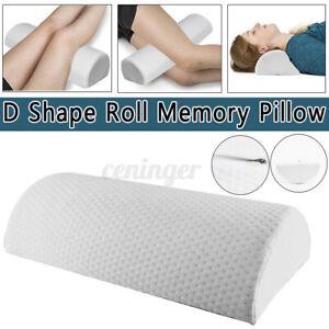 Half Moon Pillow Memory Neck Knee Leg Back Lumbar Support Pain Relief Bolster AU