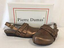 Pierre Dumas LEXY Women's Shoes, Brown Bronze Clogs , Size US 7 M