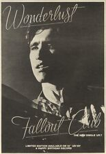 3/10/81PGN18 ADVERT: WONDERLUST THE NEW SINGLE FALLOUT CLUB OUT NOW 10X7