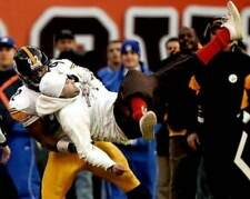 James Harrison Body Slam Browns Fan Color Unsigned 16X20 Photo