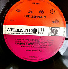 "Led Zeppelin IV A3 B3 Red Plum 1st UK press 1971 ""pecko duck""  Nr Ex Top Vinyl"