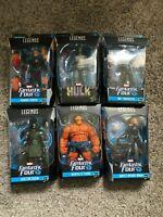 Marvel Legends Fantastic Four Wave Lot In Box Includes BAF