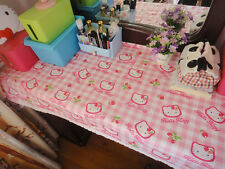 "Hello Kitty Heads Cotton Table Cloth 67 "" x 46 "" Home Kitchen Household"