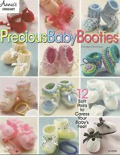 Precious Baby Booties Crochet Patterns Carolyn Christmas Annie's Attic NEW