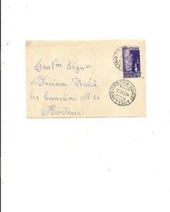 ARTE TESSILE MODA LIRE 20 ISOLATO SU BUSTA DA AVELLINO 5/5/1951