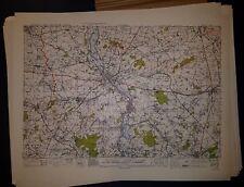 1940's Army Maps  France Belgium 1:50,000  GSGS 4040 WW II 59 Sheets w/ Bastogne