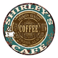 CWCC-0027 SHIRLEY'S COFFEE CAFE Sign Valentine Mother's Day Housewarming Gift