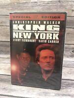 King Of New York DVD Christopher Walken Laurence Fishburne 1990 Film NEW Sealed