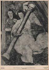 Lithografie: Fotografie, Malerei, Fresko Martin Schongauer Engel mit Geißelsäule