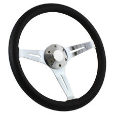 "15"" Steering Wheel 1964 to 1969 Ford Mustang Chrome & Black Leather And Adapter"