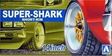 "Aoshima 1/24 Rim & Tire Set ( 92) Super-shark Short Rim 14"" 05548"