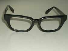 46-18 VINTAGE BAUSCH & LOMB 6 THICK SLEEK BLACK EBONY EYEGLASSES FRAMES ONLY