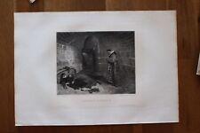 ✒ Salon de 1884 - Jean-Paul LAURENS Vengeance Urbain VI - gravure sur chine