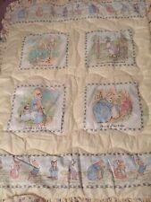 Vintage Quiltex Beatrix Potter Peter Rabbit Tom Kitten Crib Comforter EUC