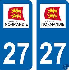 27-Eure-autocollant-plaque-Normandie-Sticker-immatriculation-nouveau-logo
