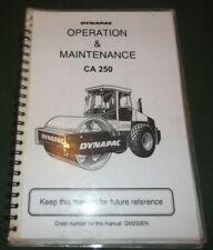 DYNAPAC CA-250 VIBRATORY COMPACTOR OPERATOR OPERATION & MAINTENANCE MANUAL BOOK