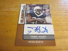 Tony Hunt 2007 Topps Draft Picks and Prospects Class Marks Autographs #TH Eagles