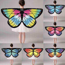 Lovely Toddler Boho Party Shawl Butterfly Print Chiffon Cappa Best Gifts Girls