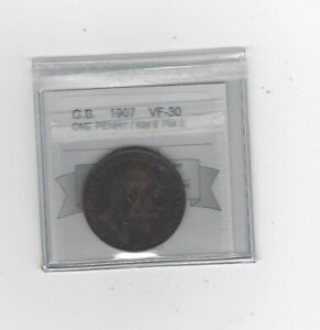 1907 Great Britain, Penny, Coin Mart  Graded **VF-30** KM# 794.2