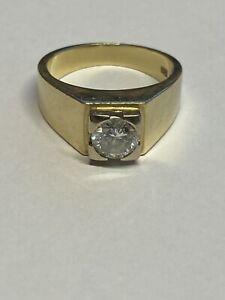 585 Gold Ring Mit 1 Ct. Brillant / Diamant