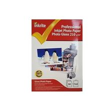 INKRITE PROFESSIONAL PHOTO PAPER / PHOTO GLOSSY 210GSM / 7x5  / 50 SHEETS