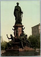 München. Monument des Königs Maximilian II, von Bayern. PZ vintage photochromie,