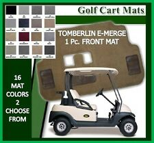 Tomberlin EMerge E-Merge Golf Cart Floor Mat One PC Front Mat CUSTOM Embroidery