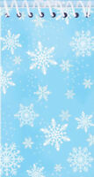 6 Snowflake Notebooks - Pinata Toy Loot/Party Bag Fillers Kids Frozen