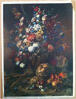 Edizioni Beatrice D'Este n.1292 -  Fiori - Flowers - Stampa su Seta - Print silk