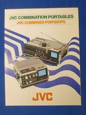 JVC 3060MU 3050MU Combo Portables Sales Brochure Catalog Factory The Real Thing