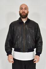 Redskin Territorie Aviateur Veste en Cuir Noir Style Sport Taille L Man Man