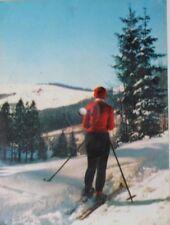 29584 Tönende AK COLORVOX Schallplatte Winterliche Grüße Weiße Weihnacht um 1965