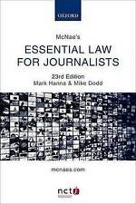 McNae's Essential Law for Journalists-ExLibrary