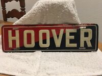 1930s Hoover Very Rare Tin Sign