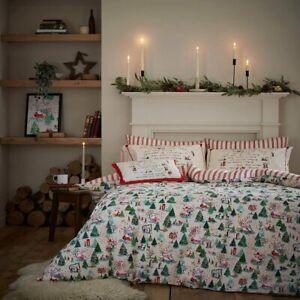 Christmas Shine Bright Bedding by Cath Kidston 100% Cotton Duvet Cover Set