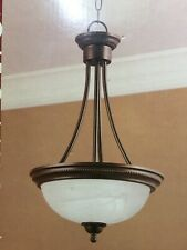 New NWT Portfolio Pendant Lighting Fixture Chandelier Rustic Aged Bronze Brown