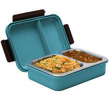 Signora Ware Duo Star Stainless Steel Lunch Box Leak & Crack proof  Blue