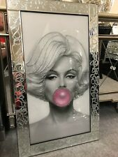 Glitter sparkle Marilyn Monroe bubble gum picture in Glitter sparkle frame