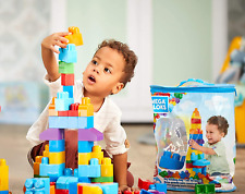 Kids Building Blocks Set Mega Bloks 80 Piece Block Toys Boys Girls Gift W/ Bag