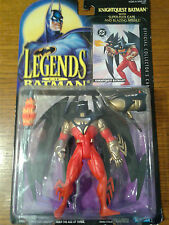 LEGENDS OF BATMAN KNIGHTQUEST BATMAN W/ SUPER FLEX CAPE & BLAZING MISSILE NIP