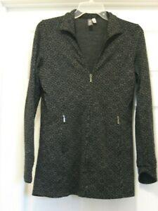 Ibex Women's Zque 100% Merino Wool Full Zip Long Sleeve Medium