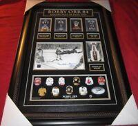 BOBBY ORR SIGNED FRAMED 82/144  AUTOGRAPHED GNR HOCKEY HALL OF FAME