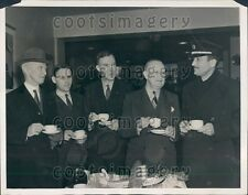 1941 Atlantic Clipper Plane Travelers Gen Frank Parker Maj M Warner Press Photo